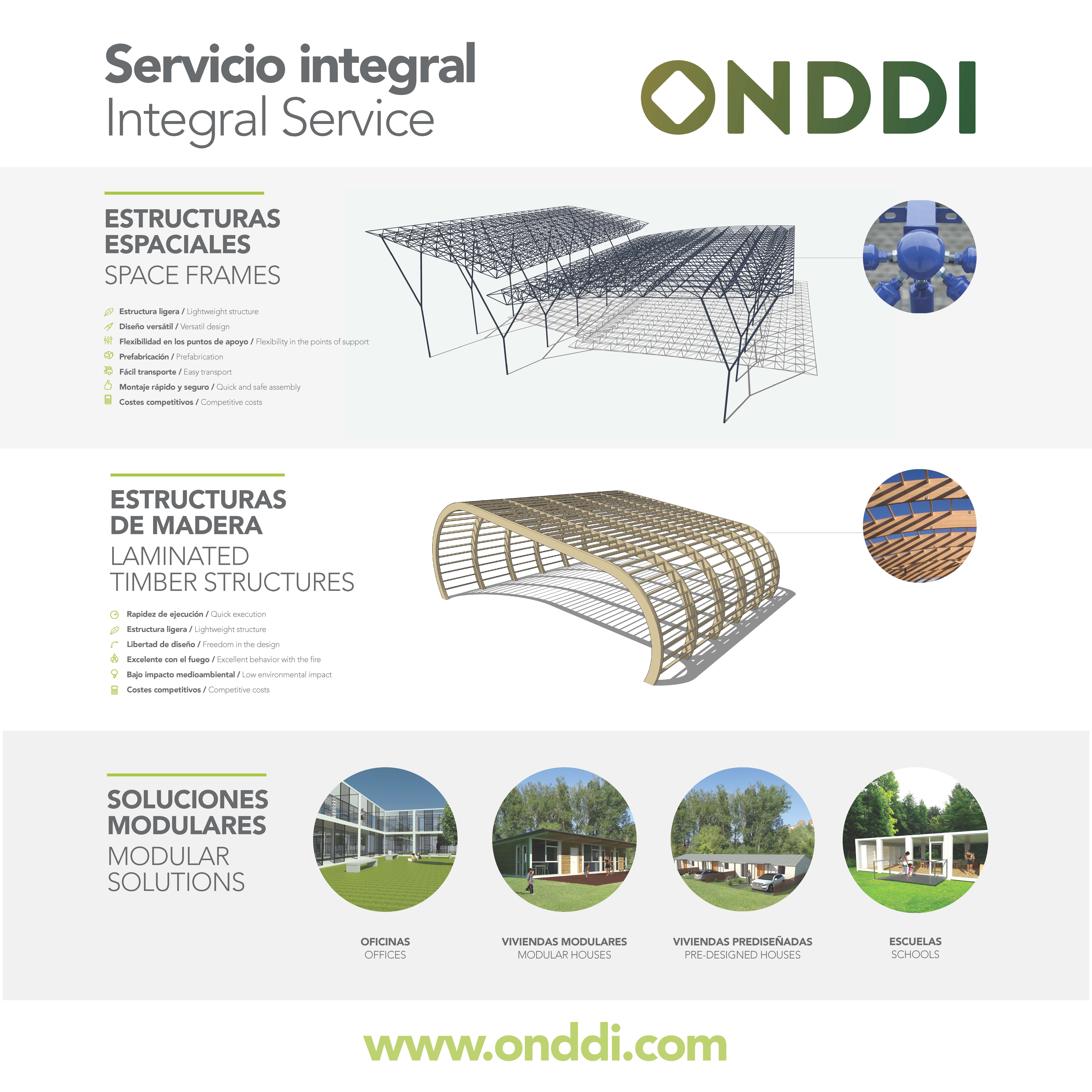 Estructuras espaciales, madera laminada y soluciones modulares ...