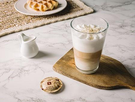 Cápsula de café Bianco Delicato y café con leche