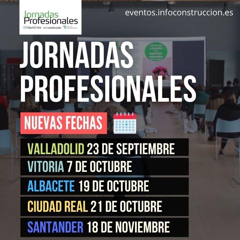 Nuevas fechas para las Jornadas Profesionales de Infoconstrucción