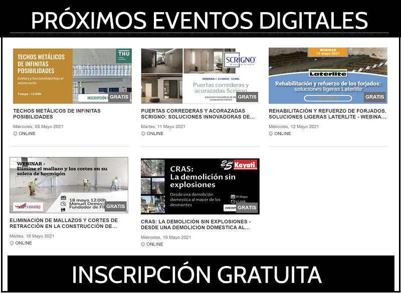Próximos webinars sobre construcción y arquitectura