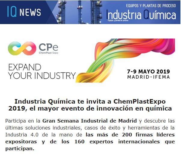 Industria Química te invita a ChemPlastExpo 2019