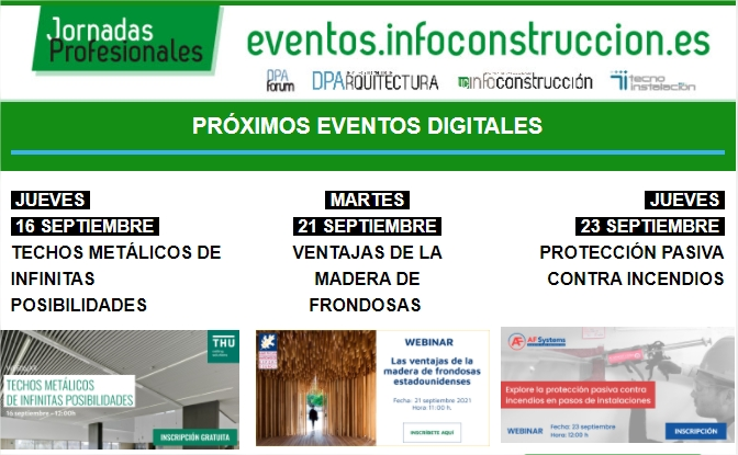 Próximos eventos digitales de Infoconstrucción