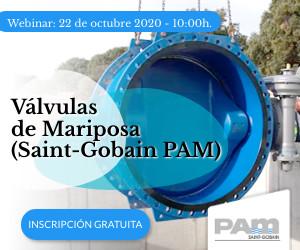 Saint-Gobain PAM España celebra un webinar sobre válvulas de mariposa