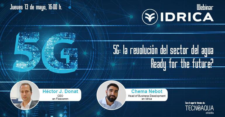 webinar de Idrica sobre cómo el 5G revolucionará la gestión del sector del agua