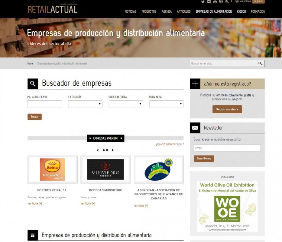 Directorio de empresas de Retail Actual