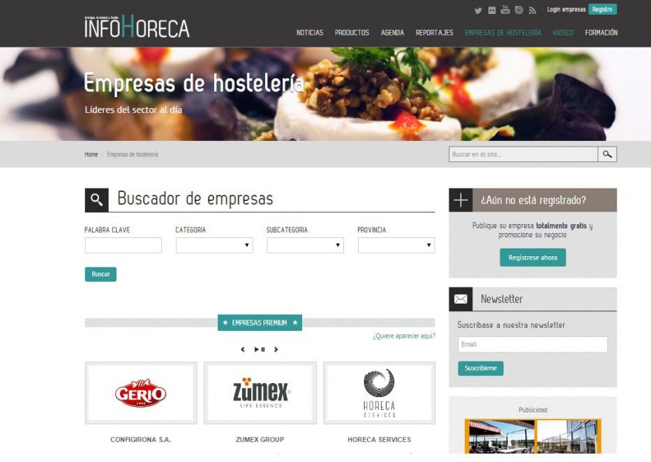 Directorio de empresas de InfoHoreca