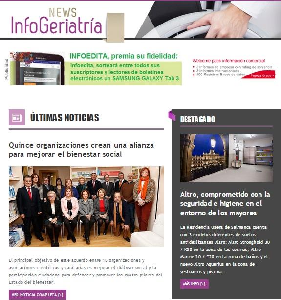 Newsletter Infogeriatría