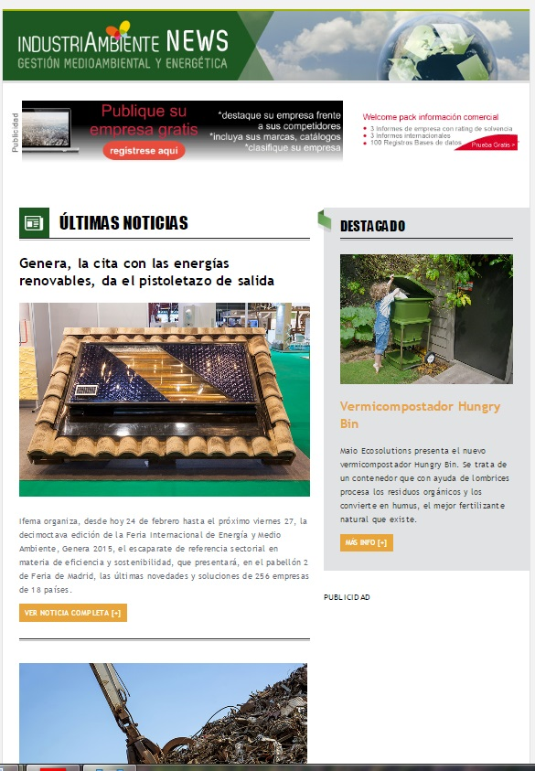 Newsletter Industriambiente