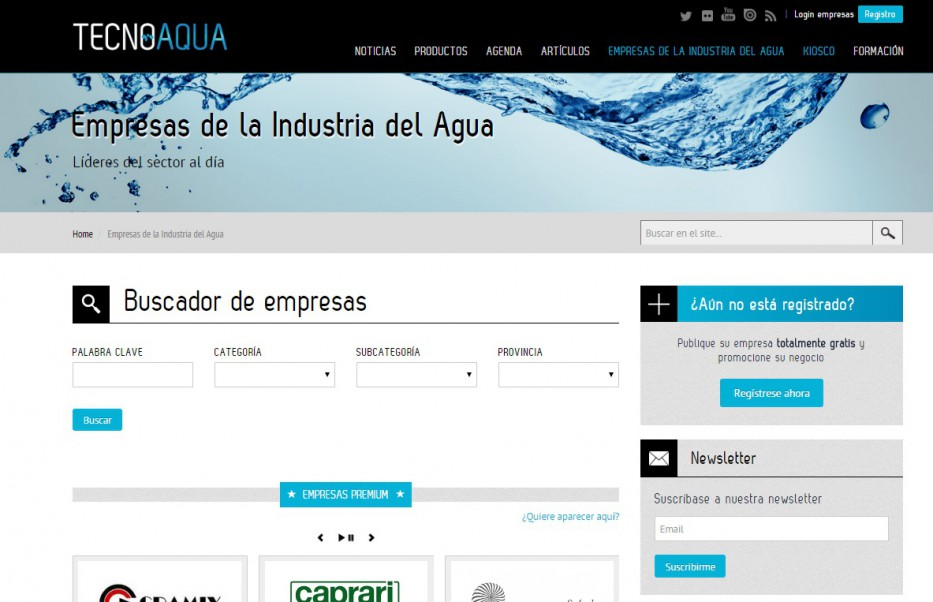 Directorio print de empresas de TecnoAqua