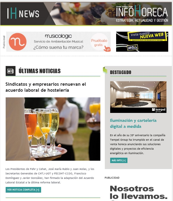 Newsletter Infohoreca