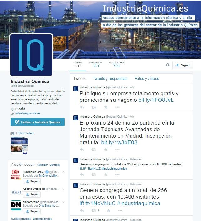 Twitter @industriQuímica